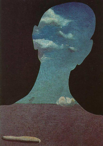 Man With His Head Full Of Clouds By Salvador Dali Art Reproduction from Wanford