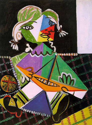 Maya With Boat 1938 By Pablo Picasso Art Reproduction from Wanford