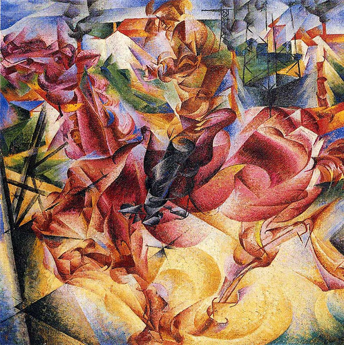 Elasticity 1912 By Umberto Boccioni Art Reproduction from Wanford.
