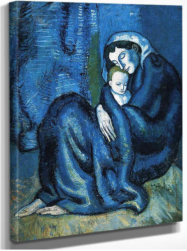 Mother And Child 1902 By Pablo Picasso