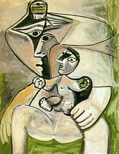 Mother And Child By Pablo Picasso Art Reproduction from Wanford