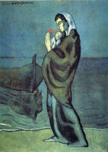 Mother And Child On The Beach 1902 By Pablo Picasso Art Reproduction from Wanford