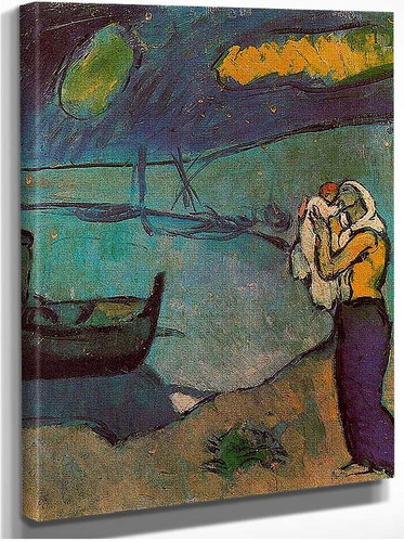 Mother And Son On The Shore 1902 By Pablo Picasso
