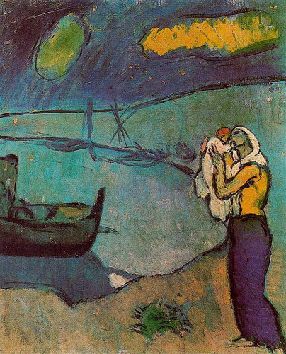 Mother And Son On The Shore 1902 By Pablo Picasso Art Reproduction from Wanford