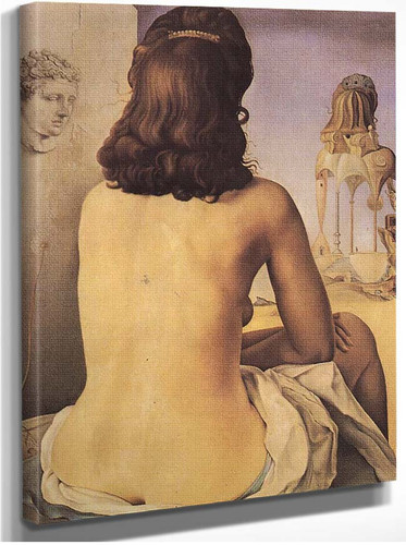 My Wife Nude Contemplating Her Own Flesh Becoming Stairs Three Vertebrae Of A Column Sky And By Salvador Dali