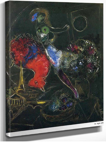 Night 1953 By Marc Chagall