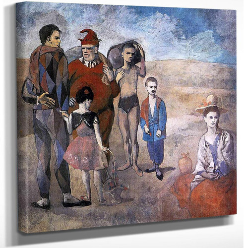 Family Of Acrobats Jugglers 1905 By Pablo Picasso Art Reproduction from Wanford.