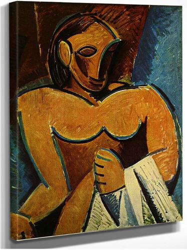 Nude With Towel 1907 By Pablo Picasso