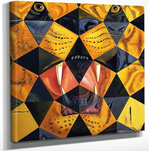Fifty Abstract Paintings Which As Seen From Two Yards Change Into Three Lenins Masquerading As By Salvador Dali Art Reproduction from Wanford.