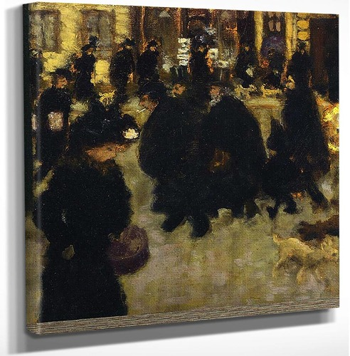 Figures In The Street 1894 By Pierre Bonnard Art Reproduction from Wanford.