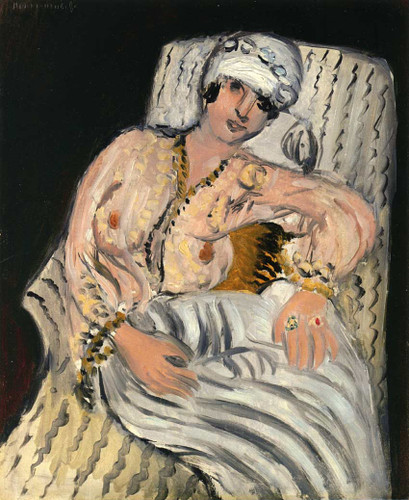 Odalisque 1917 By Henri Matisse Art Reproduction from Wanford