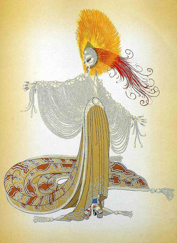 Oriental By Erte Art Reproduction from Wanford