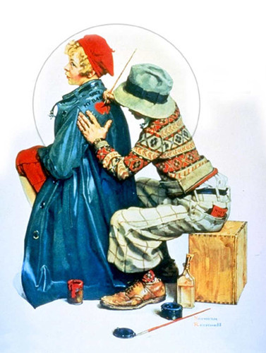 Painting Coat By Norman Rockwell Art Reproduction from Wanford