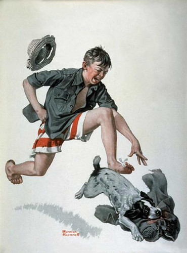 Pants By Norman Rockwell Art Reproduction from Wanford