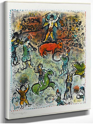 Parade In Circus 1980 By Marc Chagall