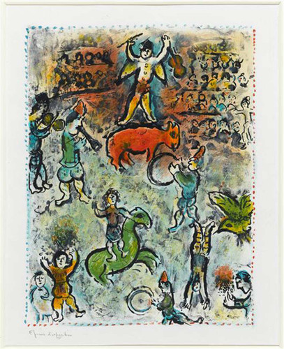 Parade In Circus 1980 By Marc Chagall Art Reproduction from Wanford