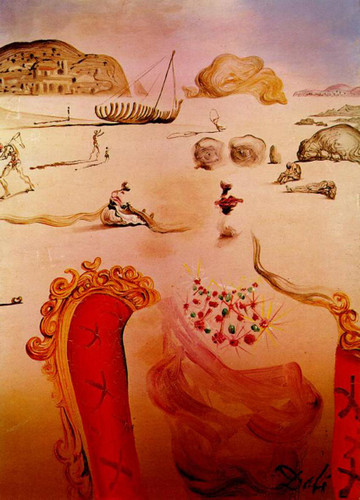 Paranoia Surrealist Figures By Salvador Dali Art Reproduction from Wanford