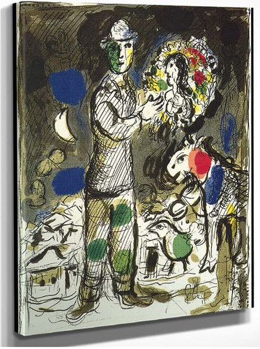 Peasant With Bouquet 1968 By Marc Chagall