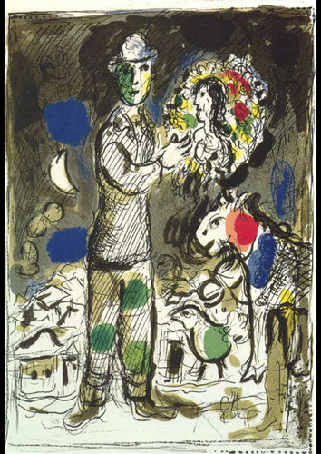 Peasant With Bouquet 1968 By Marc Chagall Art Reproduction from Wanford