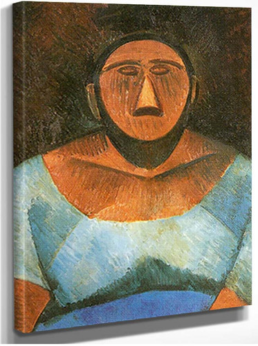 Peasant Woman1 By Pablo Picasso