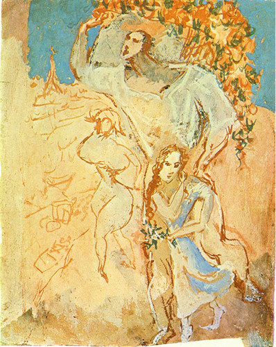 Peasants 1906 By Pablo Picasso Art Reproduction from Wanford