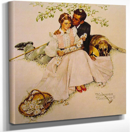 Flowers In Tender Bloom 1955 By Norman Rockwell Art Reproduction from Wanford.