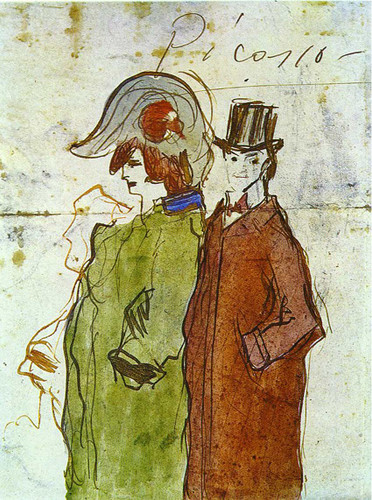 Picasso With Partner 1901 By Pablo Picasso Art Reproduction from Wanford