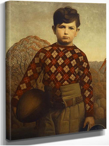 Plaid Sweater 1931 By Grant Wood