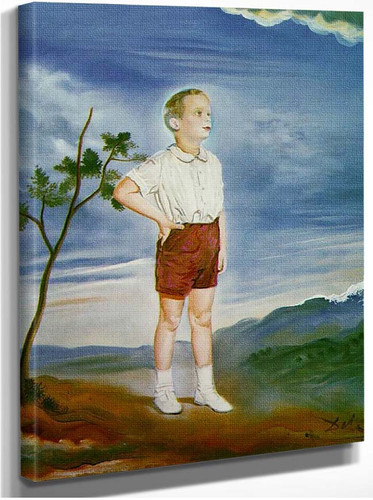 Portrait Of A Child Unfinished By Salvador Dali
