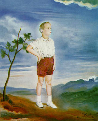 Portrait Of A Child Unfinished By Salvador Dali Art Reproduction from Wanford