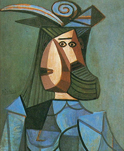Portrait Of A Woman Dora Maar By Pablo Picasso Art Reproduction from Wanford