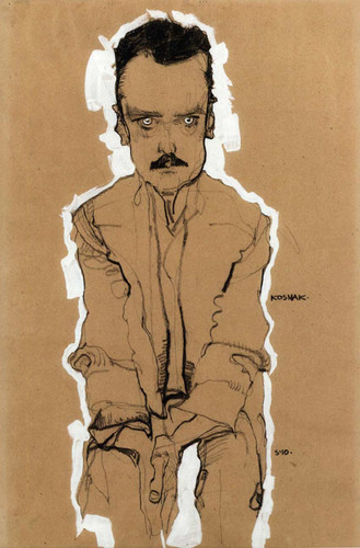 Portrait Of Eduard Kosmack Frontal With Clasped Hands 1910 By Egon Schiele Art Reproduction from Wanford