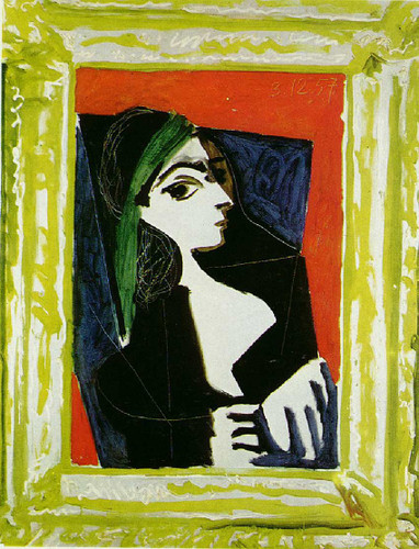 Portrait Of Jacqueline 1957 By Pablo Picasso Art Reproduction from Wanford