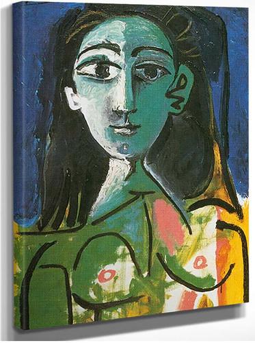 Portrait Of Jacqueline 9 By Pablo Picasso