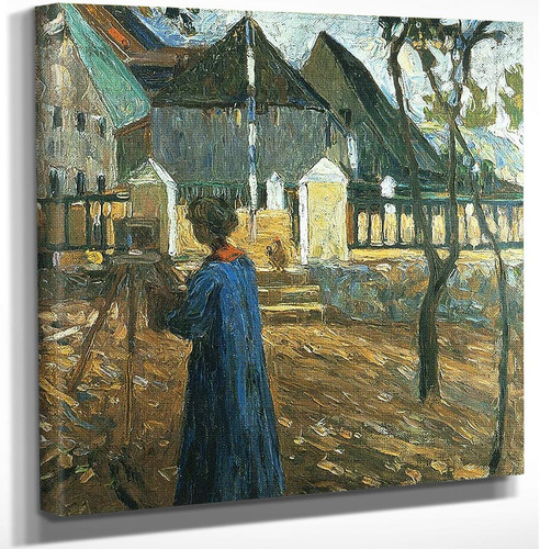 Gabriele Munter Painting In Kallmunz 1903 by Wassily Kandinsky Art Reproduction from Wanford.