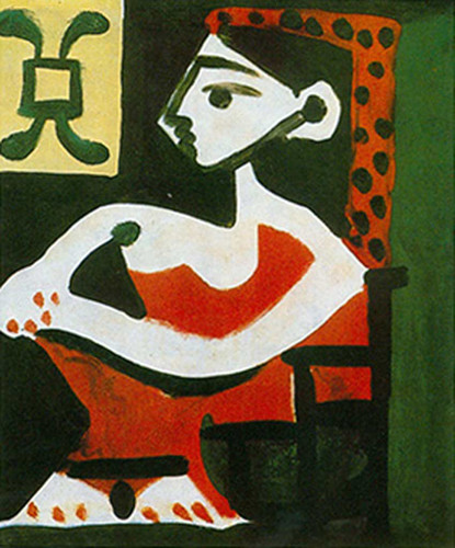 Portrait Of Jacqueline In Profile By 2 By Pablo Picasso Art Reproduction from Wanford