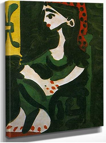 Portrait Of Jacqueline In Profile By Pablo Picasso