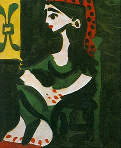 Portrait Of Jacqueline In Profile By Pablo Picasso Art Reproduction from Wanford