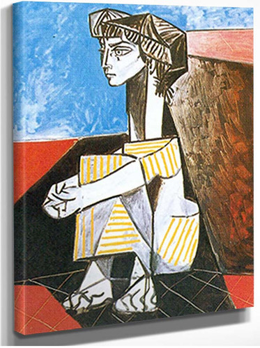 Portrait Of Jacqueline Roque With Arms Crossed By Pablo Picasso