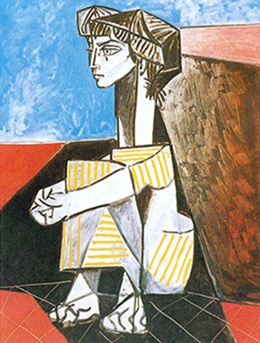 Portrait Of Jacqueline Roque With Arms Crossed By Pablo Picasso Art Reproduction from Wanford