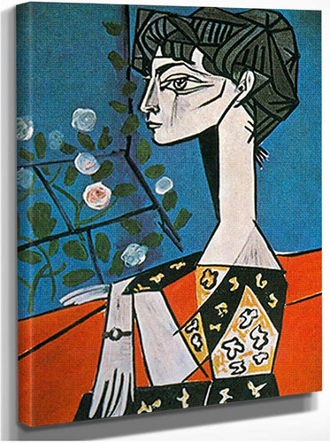 Portrait Of Jacqueline Roque With Flowers By Pablo Picasso