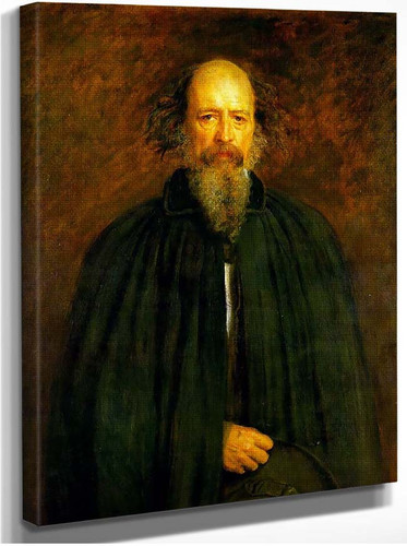 Portrait Of Lord Alfred Tennyson By John Everett Millais