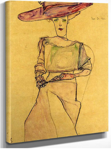 Portrait Of Madame Dr Horak 1910 By Egon Schiele