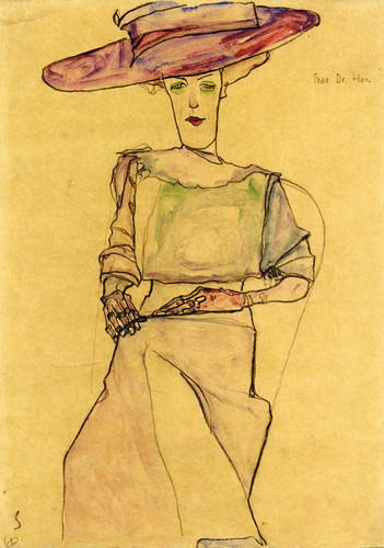 Portrait Of Madame Dr Horak 1910 By Egon Schiele Art Reproduction from Wanford