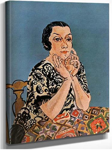 Portrait Of Mrs Dufy 1930 By Dufy Raoul