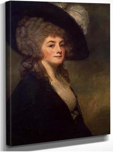 Portrait Of Mrs Harriet Greer By Romney George