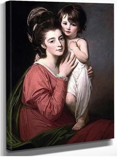 Portrait Of Mrs Henrietta Morris And Her Son John By Romney George