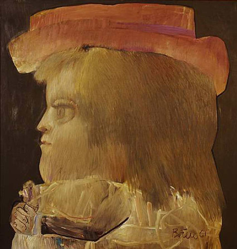 Girl In Profile2 By Fernando Botero Art Reproduction from Wanford.