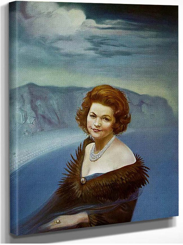 Portrait Of Mrs Ruth Daponte By Salvador Dali