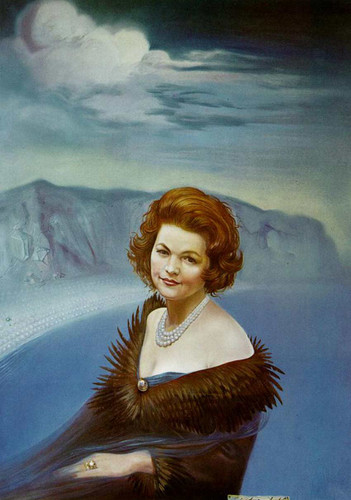 Portrait Of Mrs Ruth Daponte By Salvador Dali Art Reproduction from Wanford